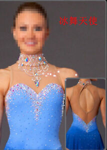 Ice skating dress Comfy Competition Figure Skating Baton Twirling Costume W064
