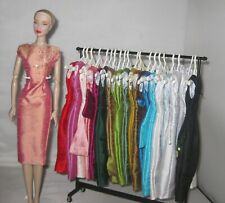 handmade OOAK silk dress to fit Vintage & Silkstone Barbie, early FR doll
