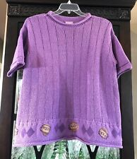 1999 Blue Fish Clothing - Spring Pullover Sweater Sz 1 Lilac/Purple - Excellent