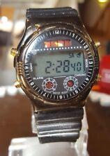 Vintage lcd diver Quartz chronograph solar 1990er con batería de nuevos