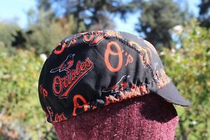 CYCLING CAP MLB ORIOLES     100% COTTON HANDMADE IN USA