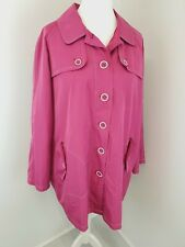 DASH Pink Jacket Trench Mac Pink Lined Lightweight Shiny Size 22