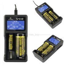 VC2 USB Lithium Ladegerät Kapazität Akku 3,7V 18650 14500 26650 Batterie Li-ion