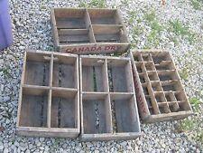4 pcs Vintage Original Canada Dry Soda Wood Carrier Box Crate