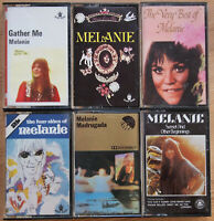 6x MELANIE ORIGINAL UK CASSETTE TAPES FOLK POP - GATHER ME / MADRUGADA ETC