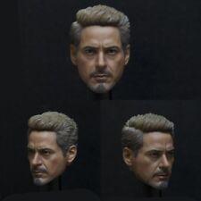 1/6 Scale Tony Stark Model Infinity War Head Sculpt For 12'' Hot Toy Figure Body
