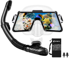 Adult Snorkel Set, Panoramic Tempered Glass Scuba Diving Mask