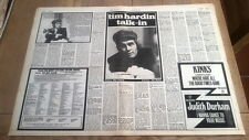 TIM HARDIN 2 page interview 1974 UK ARTICLE / clipping