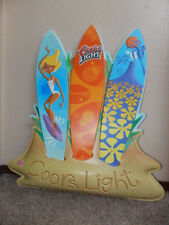 Vintage 2001 Coors Light Volcano Surfboards 2.5 ft Official Beer Promo Sign-Rare