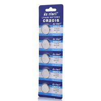 5pcs/Pack CR2016 3V Batteries DL2016 ECR2016 3V Button Coin Cell Battery New TR