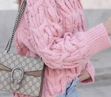 ZARA PINK CABLE KNIT  CHUNKY SWEATER JUMPER BNWT SIZE M  - UK 10-12