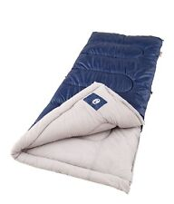 """Sleeping Bag for Cool Weather by Coleman Brazos 33"""" x 75"""" Outdoor Blanket 20-40F"""