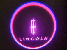 2PC PINK LINCOLN 5W LED EMBLEM DOOR PROJECTOR GHOST SHADOW PUDDLE LOGO LIGHT