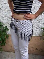 Tanzgürtel schwarz Dreiecksgürtel Bauchtanz Hüft-Tuch Gürtel mit Perlen