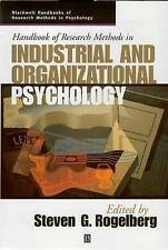 NEW Handbook of Research Methods in Industrial and Organizational Psychology