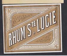 Ancienne étiquette Alcool France BN65388 Rhum Sainte Lucie