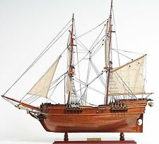 "Lady Washington Brig 25"" Wooden Tall Pirate Ship Model Hand Built Plank-On-Frame"