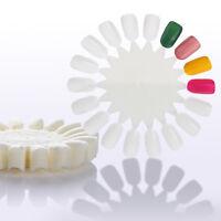 5/10pcs White False Fake Nail Art Tips 18 Wheel Board Display Practice Manicure