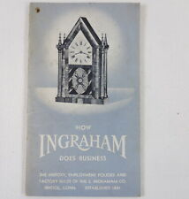 How Ingraham Clocks & Watches Does Business 1940s Employee Factory Guide
