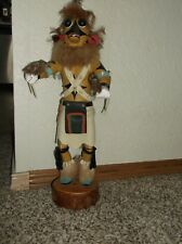 """VINTAGE Authentic Hopi Tribe Kachina Doll WARRIOR (Ahote) by J Chisdully 16""""tall"""