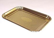 "Novacart Gold Pastry & Cake Trays 5-11/16"" x 8"" - Pack of 5"