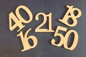 Free Standing MDF Wooden Coming Of Age Birthday Celebration joined Numbers
