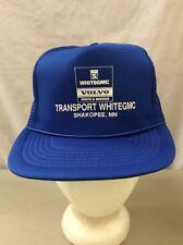 trucker hat baseball cap Vintage Mesh Snap Back TRANSPORT WHITEGANG Volvo MN