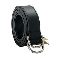 Burberry Men's Black 100% Leather Belt Sz 38 40