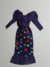 Vintage Mod Barbie: 1973 BEST BUY #3343 BLUE FLORAL PEASANT DRESS