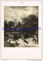Waterfall - Ruysdael, Book Illustration, 1902