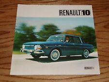 Original 1968 Renault 10 Foldout Sales Brochure 68