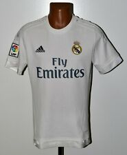 REAL MADRID 2015/2016 HOME FOOTBALL SHIRT JERSEY ADIDAS SIZE M ADULT