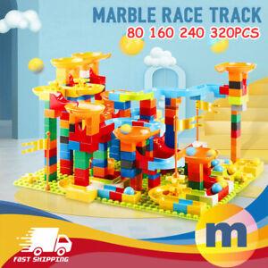 Marble Race Run Building Blocks Construction Toys Educational Boy Preschool Kids