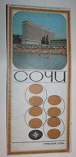 Soviet USSR BIG Tourist scheme route map SOCHI travel 1980 Attraction travel