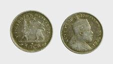 s595_1) ETHIOPIA ETIOPIA  MENELIK GERSH 1/20 BIRR  SILVER AR