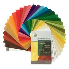 """Stoff-Farbpass, 30 Farben, Frühling-Herbst """"Neo"""" - Fächer Frühling-Herbsttyp"""