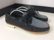 Lanvin Mocasines zapatos de hombre de cubierta, Reino Unido 8 Eu42, Blue Suede, en muy buena condición