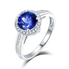 Jewelry Sets 14K White Gold Diamond Engagement Tanzanite Gemstone Wedding Ring