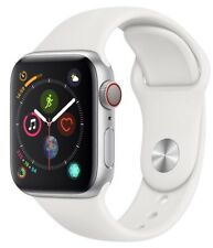 Apple Watch Series 4 40 mm Silver Case with White Sport Band GPS + Cellular Mint