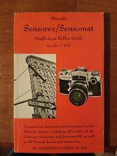 Vtg 1971 Miranda Sensomat Sensorex Single Lens Reflex Guide Manual John Wolf