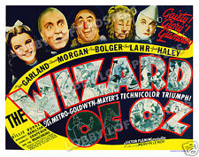 THE WIZARD OF OZ LOBBY TITLE CARD POSTER 1939 JUDY GARLAND FRANK MORGAN
