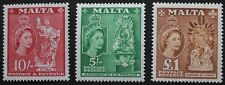 Queen Elizabeth II stamps, Malta, 1956, SG ref: 280-282, 3 stamp set, MNH