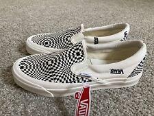 Vans Vault Slip On Reissue LX Skate Shoes Checkerboard Ivory/Black Men's Size 9