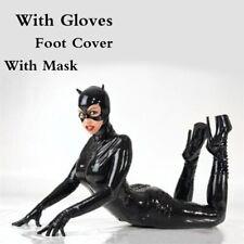SALE M Women Catsuit Patent leather Bodysuit Front Zipper Zip Lingeri Suit NEW