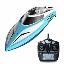 Remote Control Boat for Pool & Outdoor Use – RC Racing with Control Blue