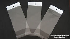 100pcs Self Adhesive Seal Clear Plastic Opp Resealable Bags for iPhone 6 Etc