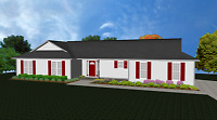 House Plans for 1490 Sq. Ft. 3 Bedroom House w/Garage