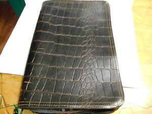 vintage pedro's briefcase leather alligator hidden handles  nicely seasoned