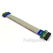 x1 PCI Express Slot Riser Card 1x Flexible Ribbon Cable Adapter PCIe PCI-E
