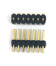 100pc Gold plated Dual Row 2x7P 2x7 2.54mm H=11.6mm Male Pin Header RoHS 90-14